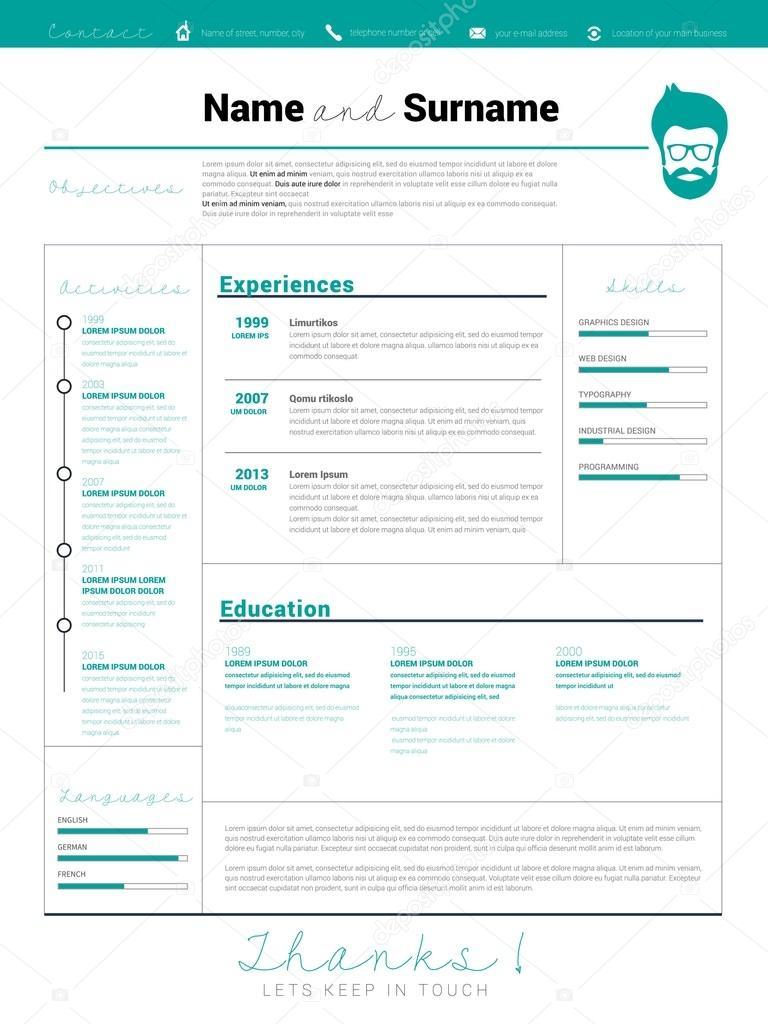Curriculum, plantilla cv de trabajo — Vector de stock © matju78 ...