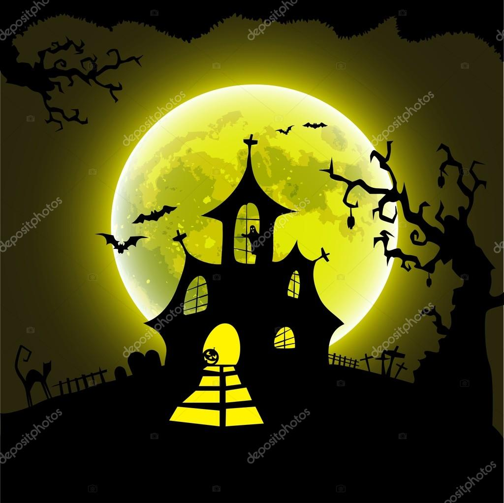 House Plans With Photos Halloween Haunted House Poster Stock Vector 169 Matju78