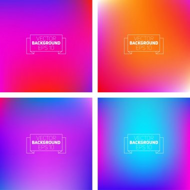 Colorful blurred backgrounds.