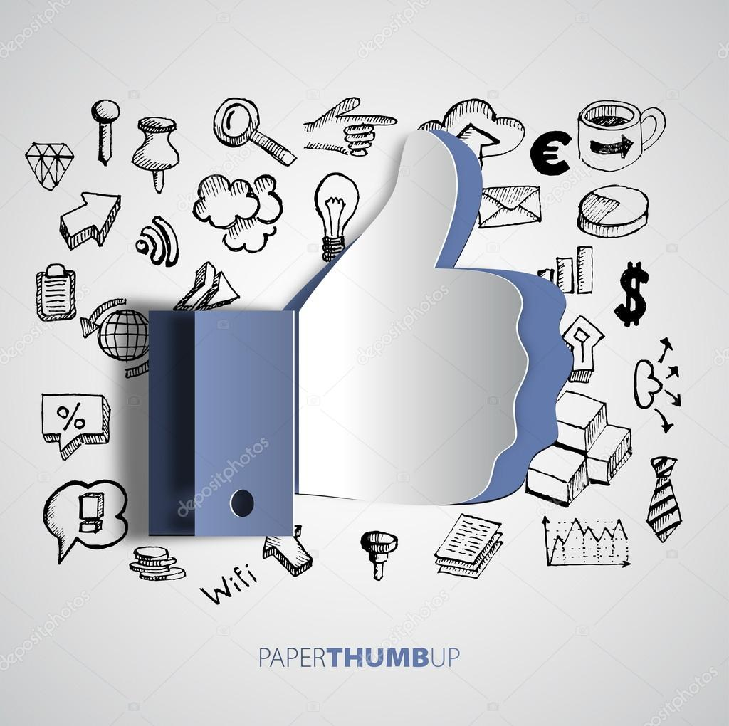 Papercut icon social networks
