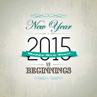 Happy New Year Greeting Design