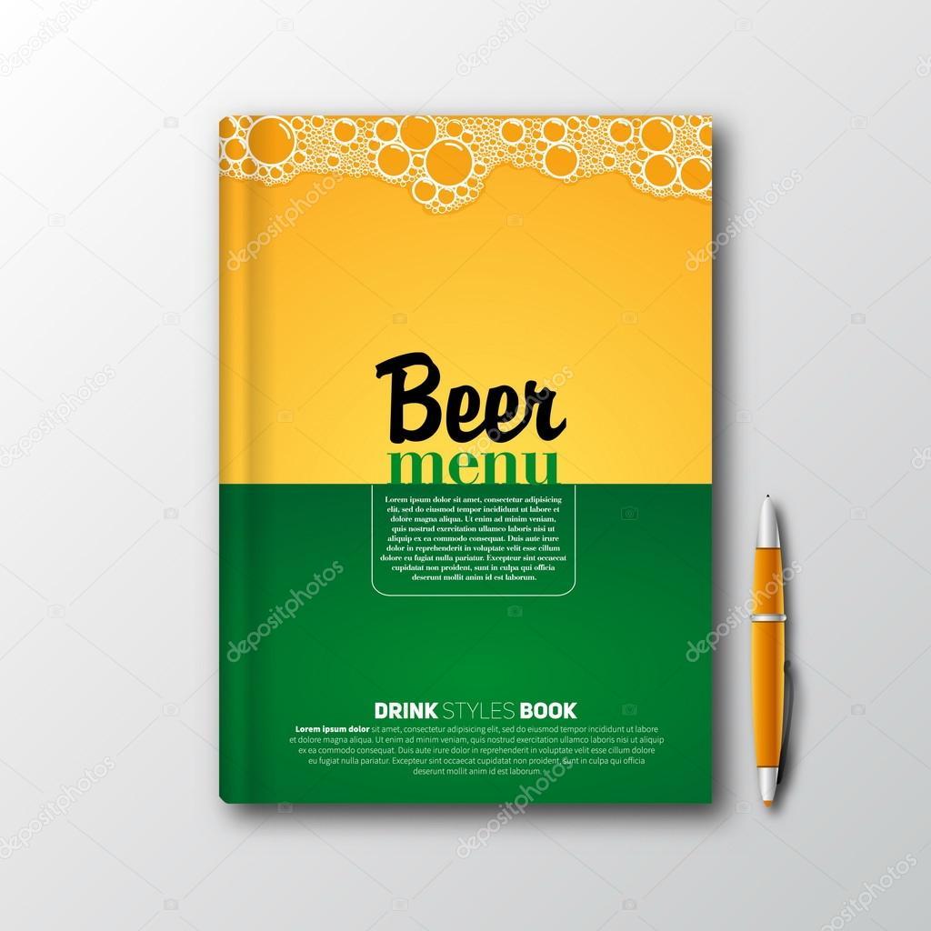 Bier-Buch-Flyer Vorlage Menü — Stockvektor © matju78 #57967031