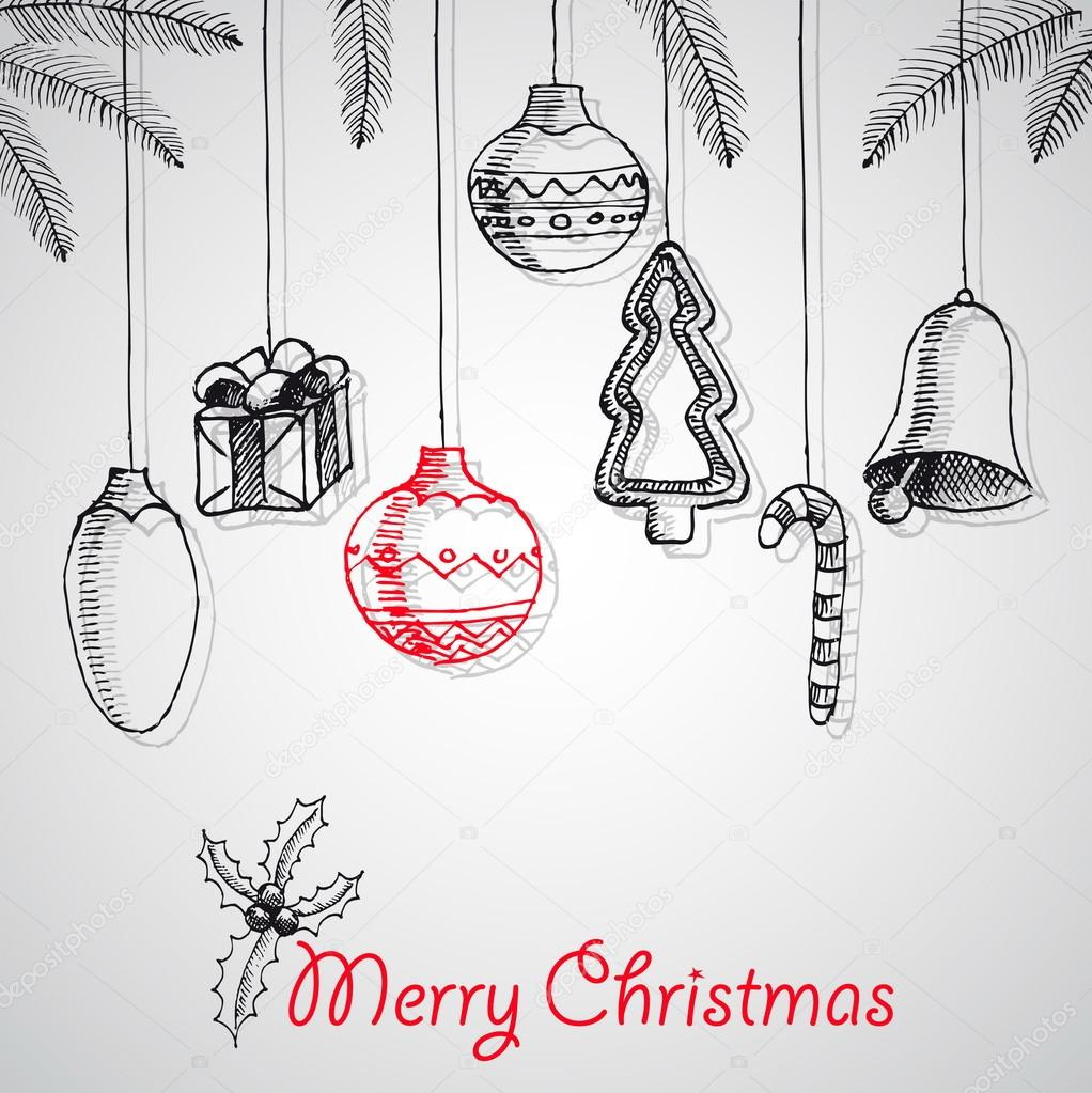 Frohe Weihnachten Poster Design Stockvektor 61272257