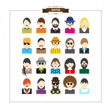 Set of avatars profile pictures