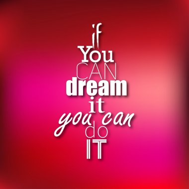 You can do it - Typographical Poster