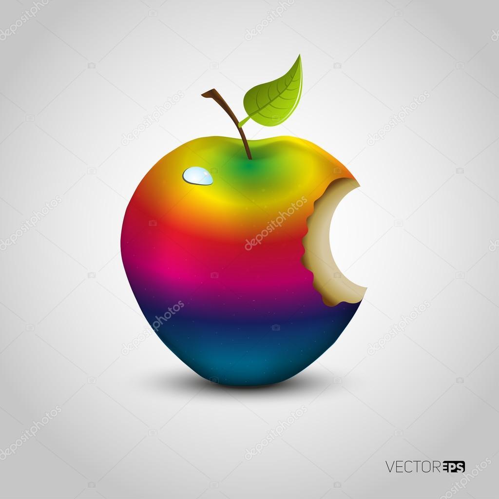 Color manzana mordida — Vector de stock © matju78 #71174867