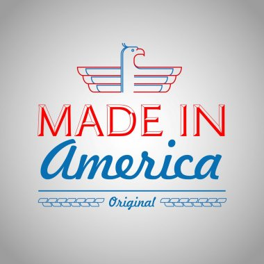 Made in the USA Symbol with American color