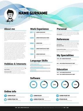 Resume, cv template