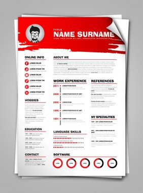 cv, job resume template