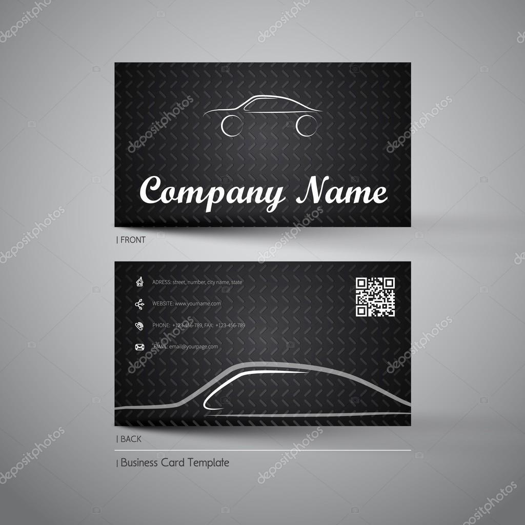 Firma Visitenkarten Mit Auto Stockvektor Matju78 87975206