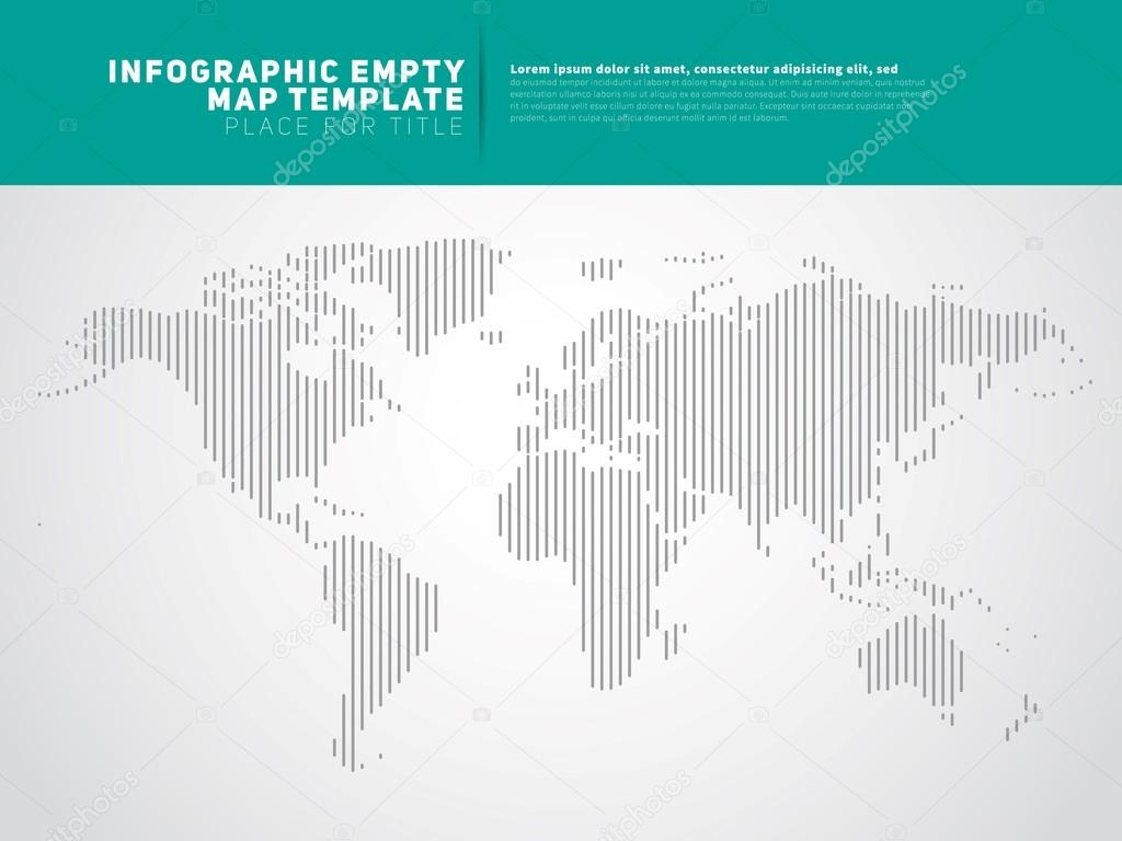 World map business template stock vector matju78 87981142 world map with monochrome continents atlas for infographics or statistic vector vector by matju78 gumiabroncs Image collections