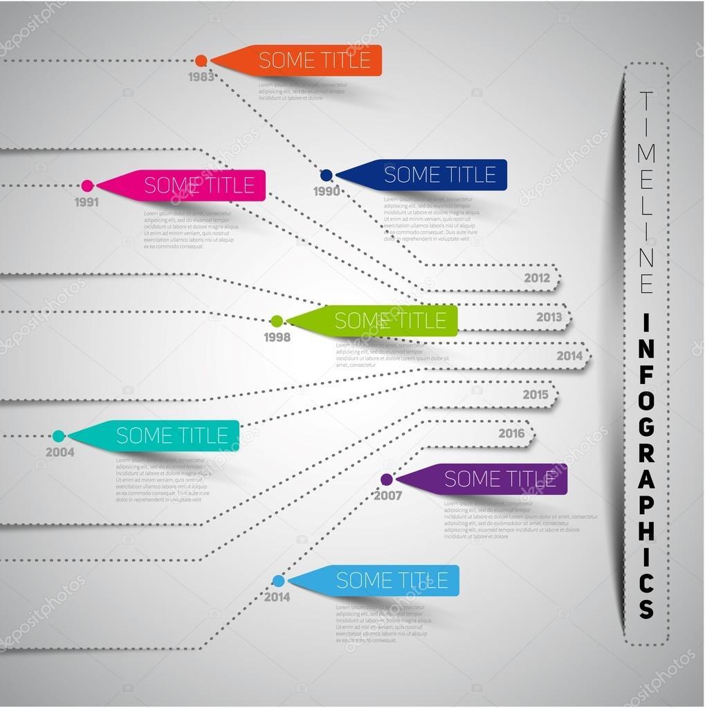 Business Infographic Timeline Design Stock Vector Matju - Timeline website template