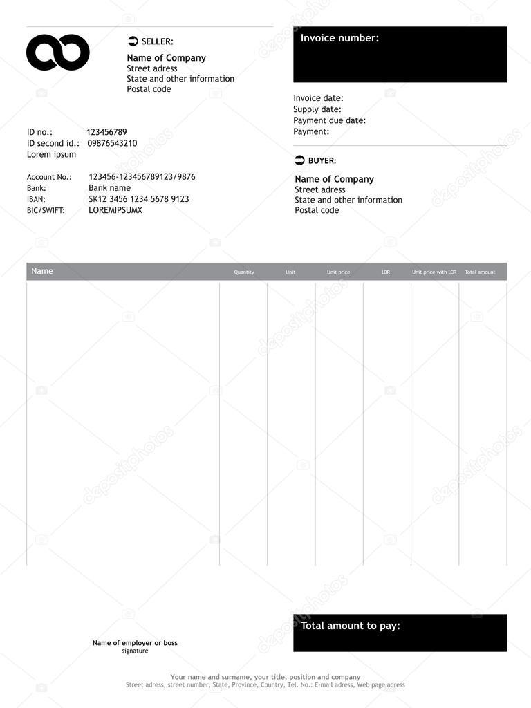 Plantilla de factura de finanzas negocios — Vector de stock ...