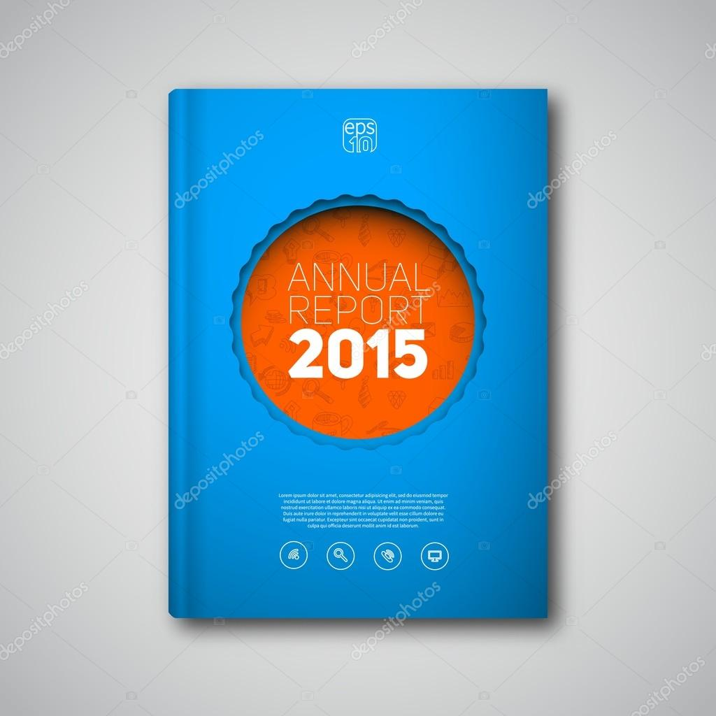 annual business report template stock vector matju78 91963486