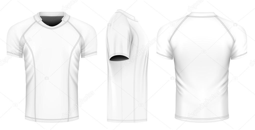 Camiseta de rugby vector– ilustración de stock a3ef48d3a2c6a