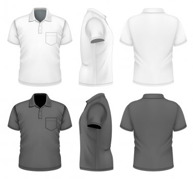 Mens polo-shirt design template