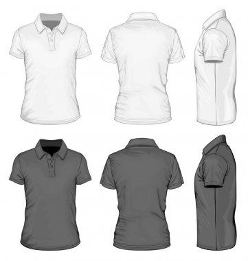 Mens short sleeve polo-shirt design templates.