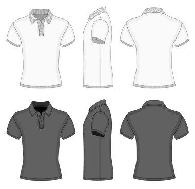 Mens  polo shirt and t-shirt design templates