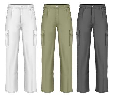 Men work trousers.