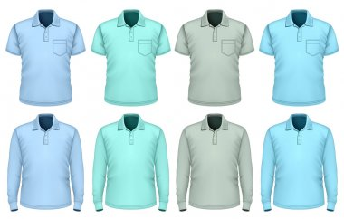 Men polo-shirt. Shades of blue.