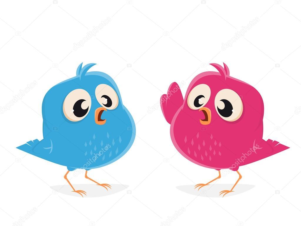 Dibujos Animados Pájaros Hablando