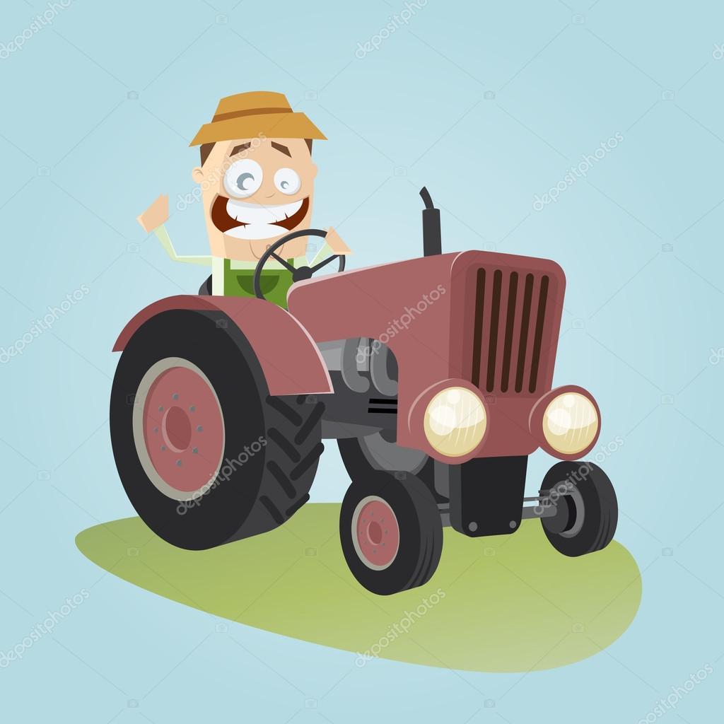Agriculteur de dessin anim avec tracteur image vectorielle 67105737 - Dessin anime avec tracteur ...