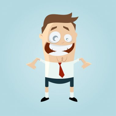funny businessman in shorts