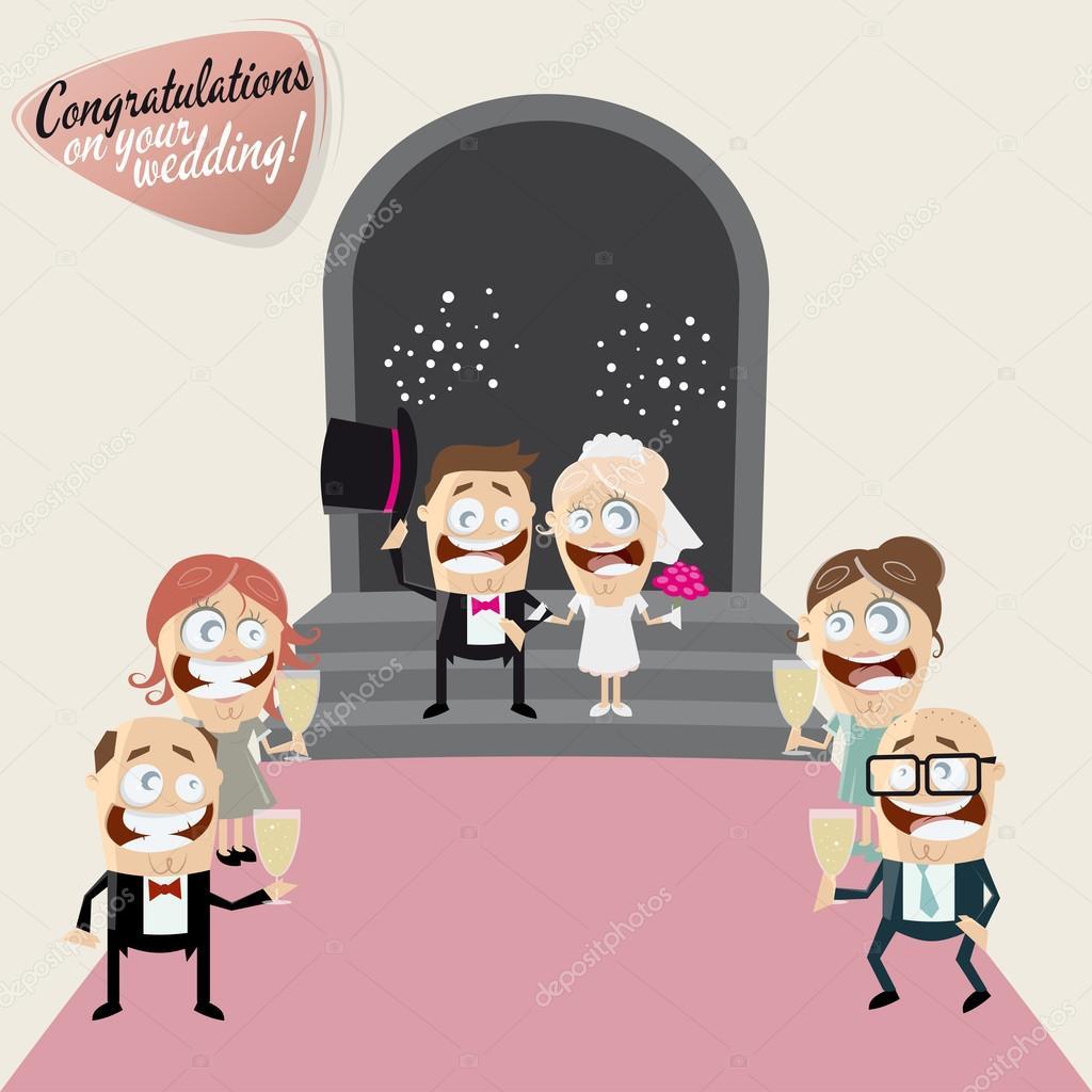 Lustige Cartoon Hochzeit Stockvektor C Shockfactor De 78396894