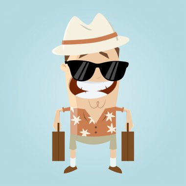 funny cartoon tourist