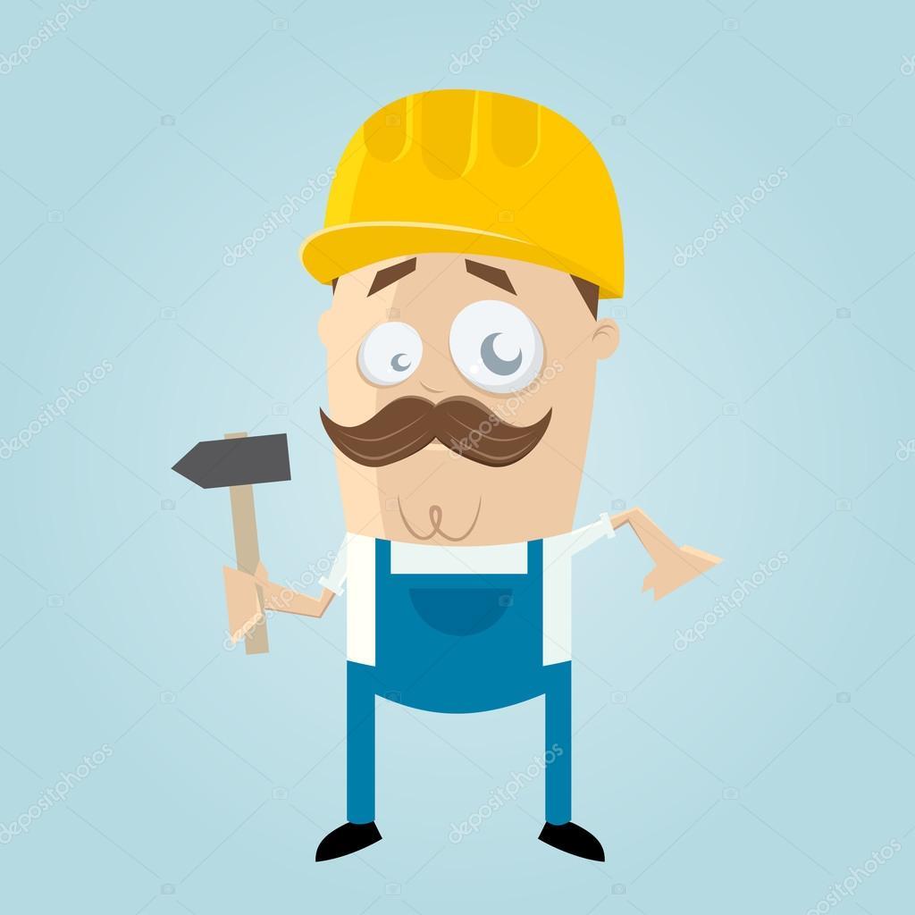 Platte bouwvakker vectoren - Download gratis …