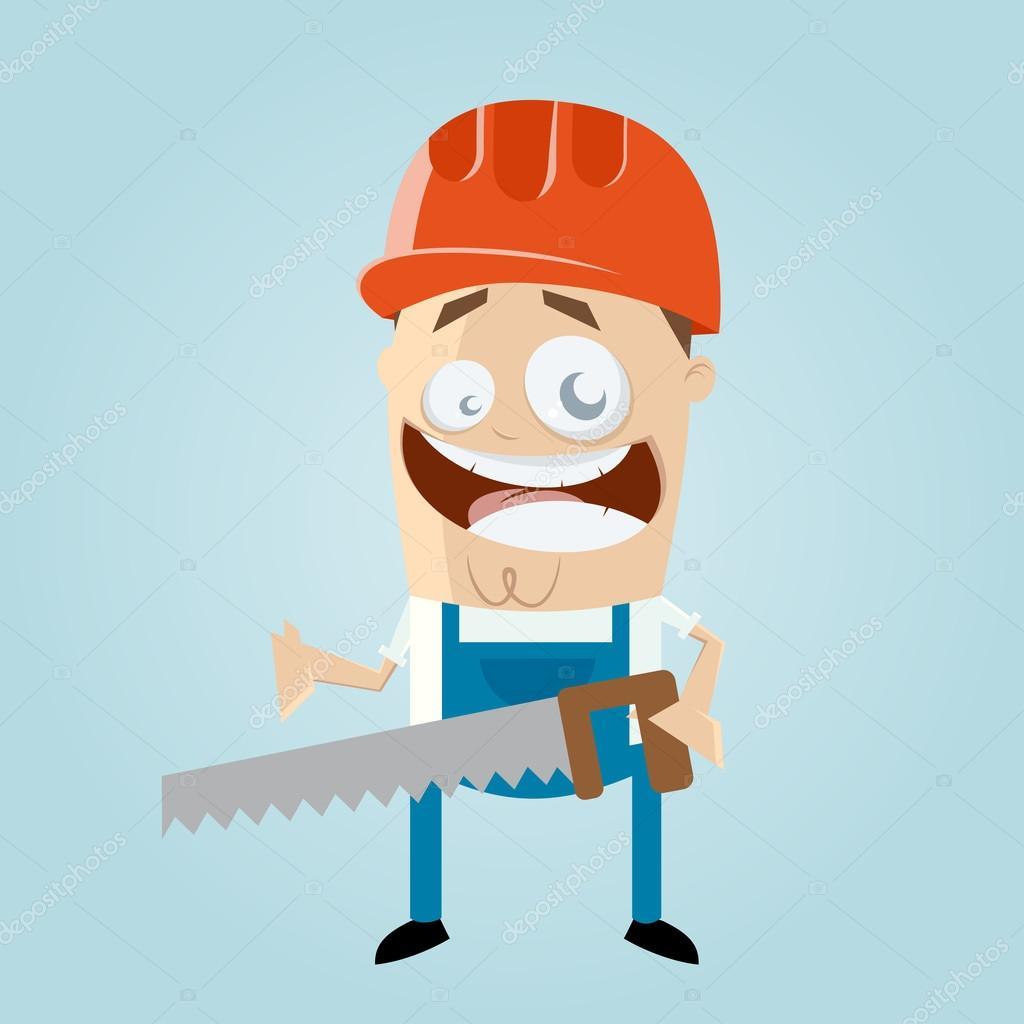 Lustige Cartoon Bauarbeiter Stockvektor C Shockfactor De 78400564
