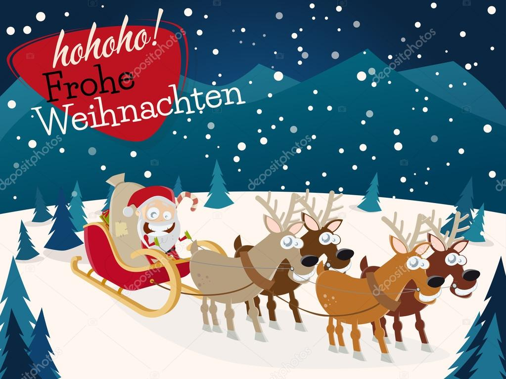 Frohe Weihnachten with santa claus — Stock Vector © shockfactor.de ...
