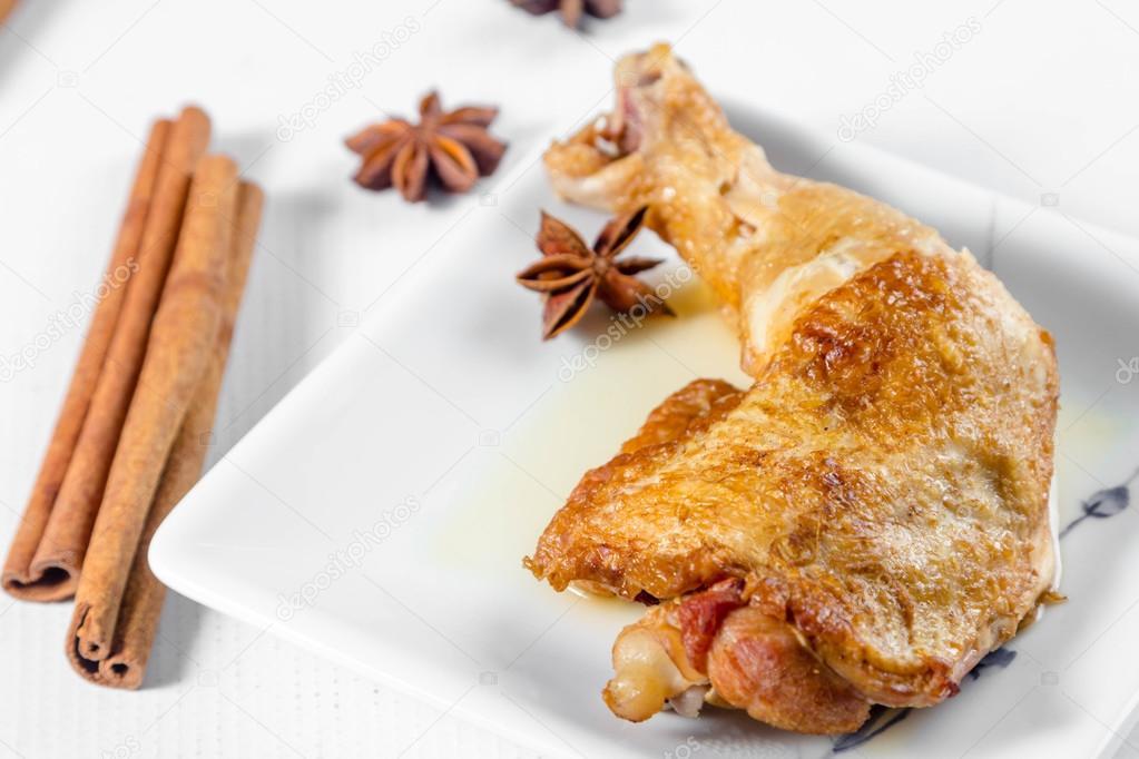 gepocheerde kip koken — stockfoto © tiverylucky #114427584