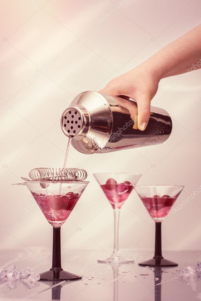 Despejando Cocktails óculos Art Deco — Stock Photo © springfield ... ea760f7562
