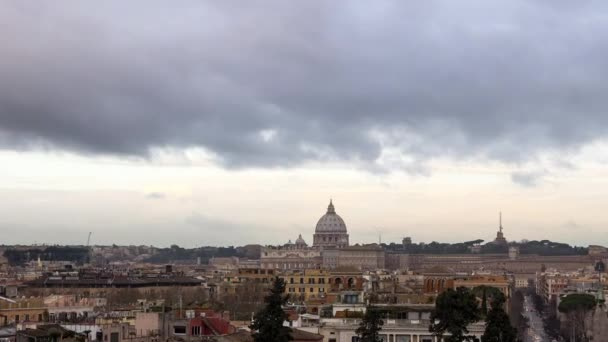 Clouds over Rome panorama