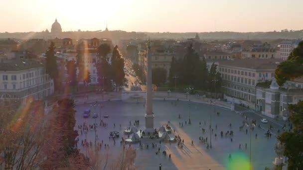 Piazza del Popolo al tramonto