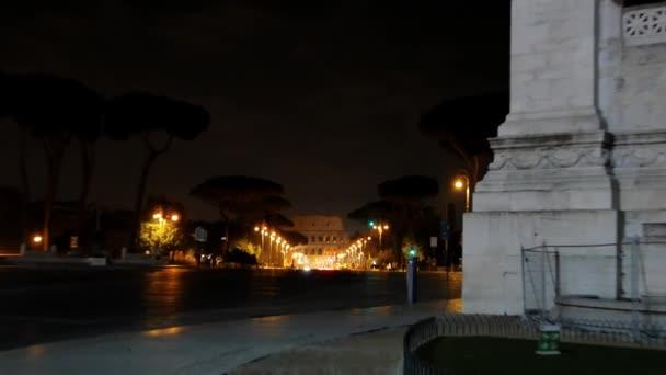 Via dei Fori Imperiale pohled z Kolosea. Řím, Itálie