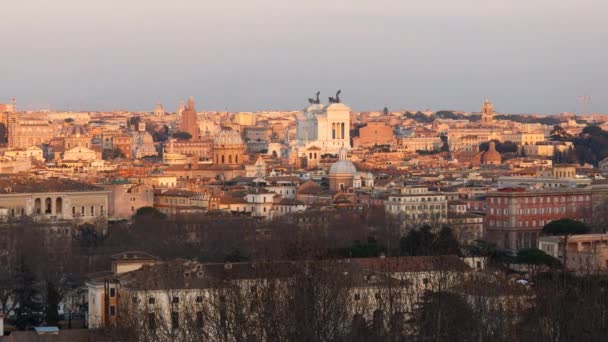 Rome At Sunset View From Gianicolo Hill