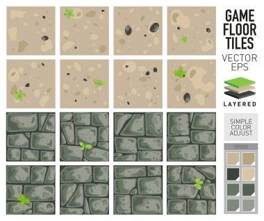 Vector sand and dirt floor tiles.