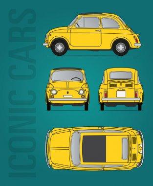 Fiat 500 vector file