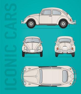 Volkswagen beetle vector file