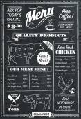 Fotografie Vector Chalkboard menu