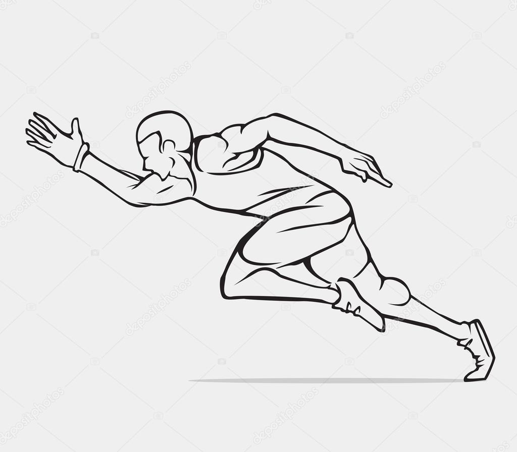 running uomo che corre disegno