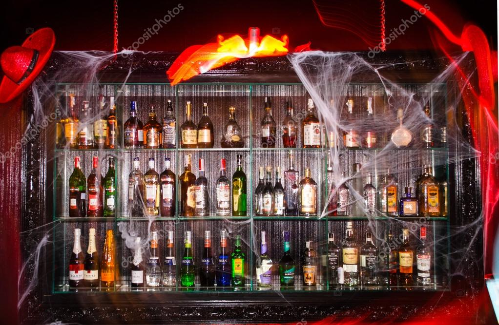 decorated bar for a Halloween party – Stock Editorial Photo ...