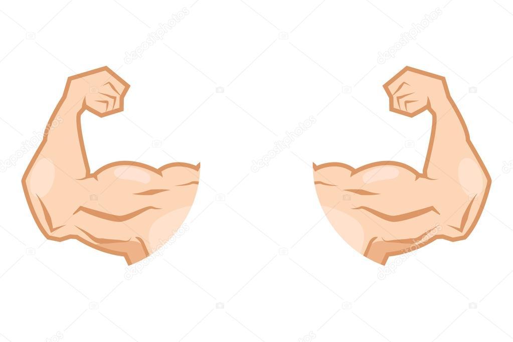 icono del brazo musculoso — Archivo Imágenes Vectoriales © AnSim ...