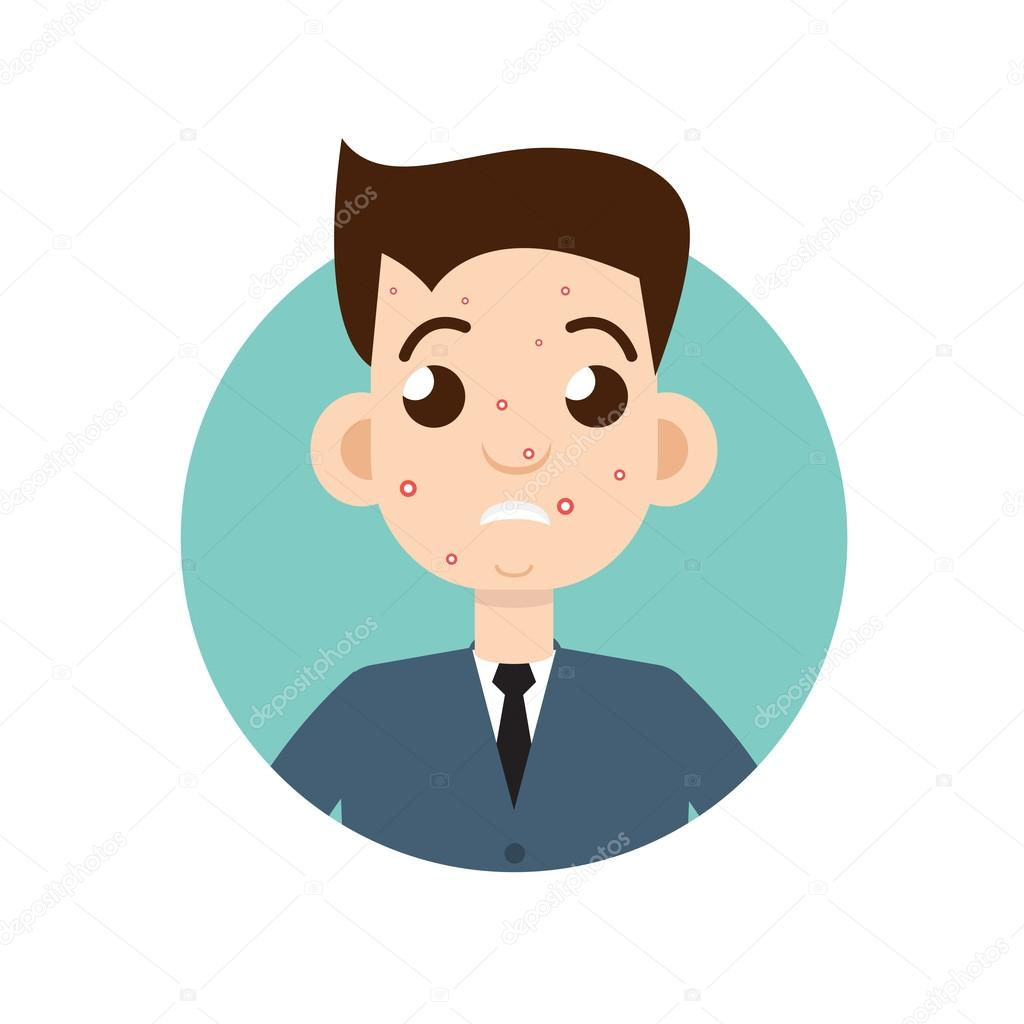 Acne Man Illustration  U2014 Stock Vector  U00a9 Ansim  118962524