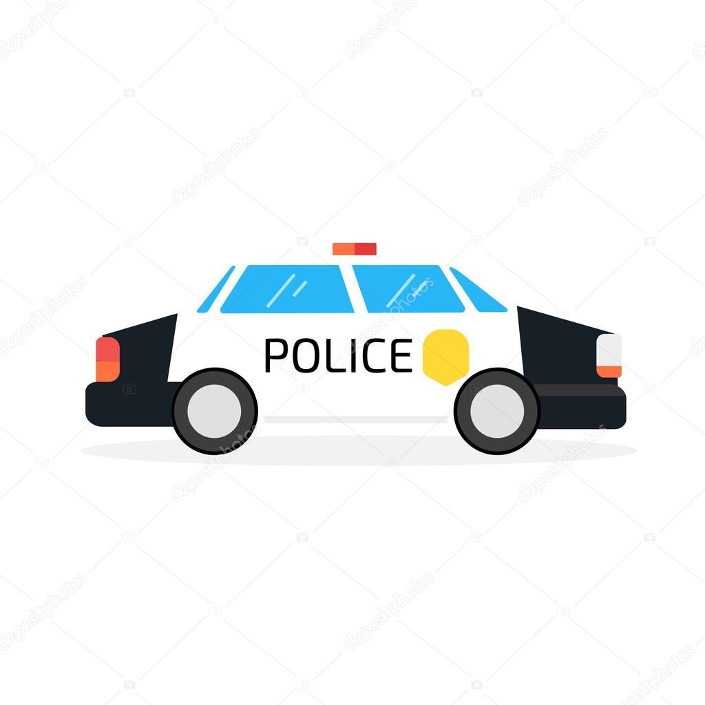 Kresleny Policejni Auto Stock Vektor C Ansim 123519590