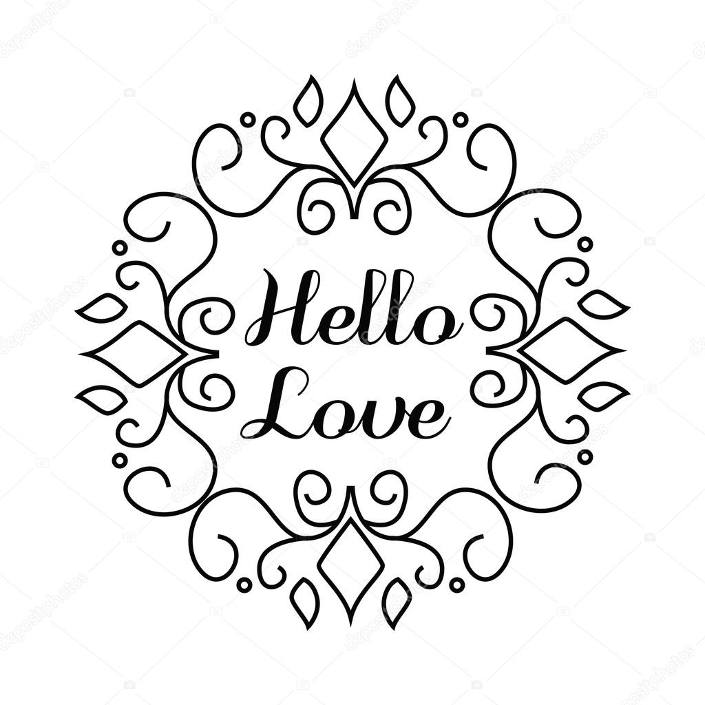 Lettering In Hand Draw Frame Stock Vector Ansim 123572352