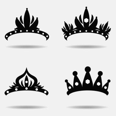 Diadem silhouette set