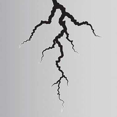Earth Crack on grey